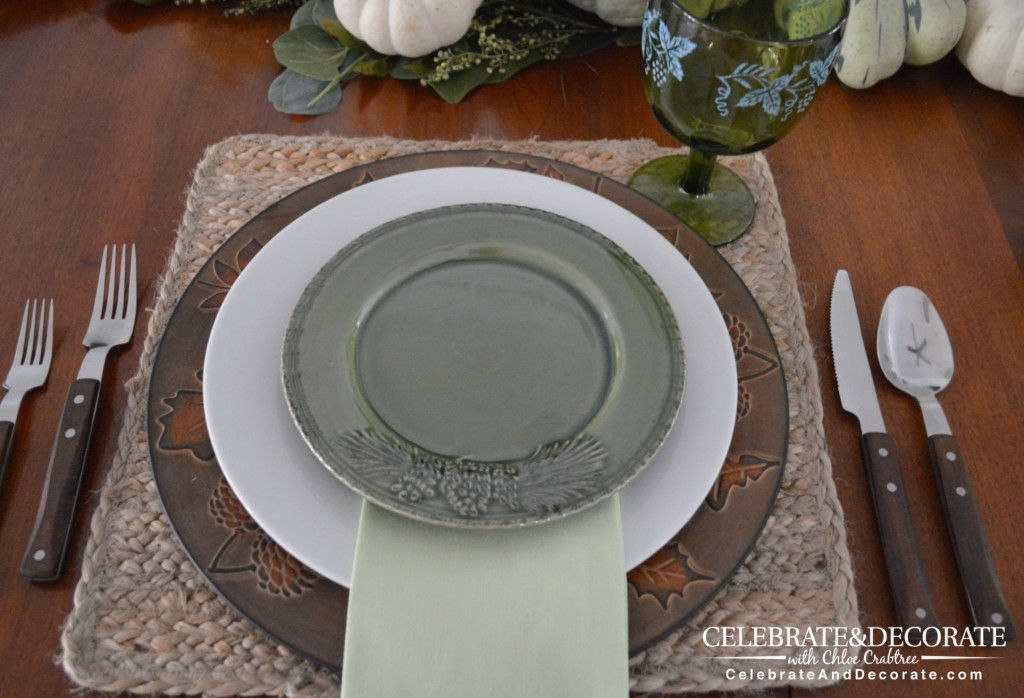 Building a plate stack for a tablescape