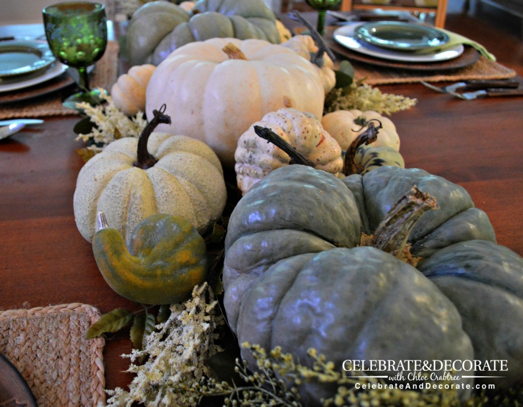 Green and White Fall Pumpkins