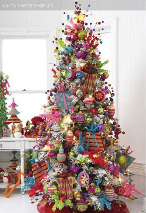 Beautiful Christmas Trees and a Link Party - Celebrate ...