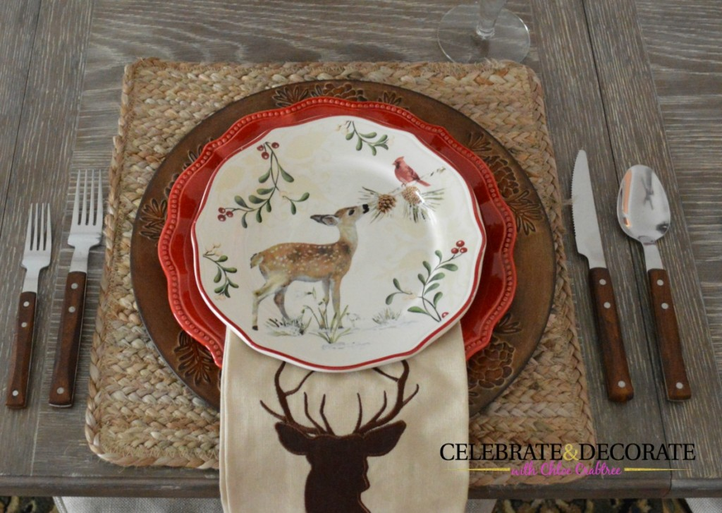 Reindeer Christmas Table Celebrate Decorate
