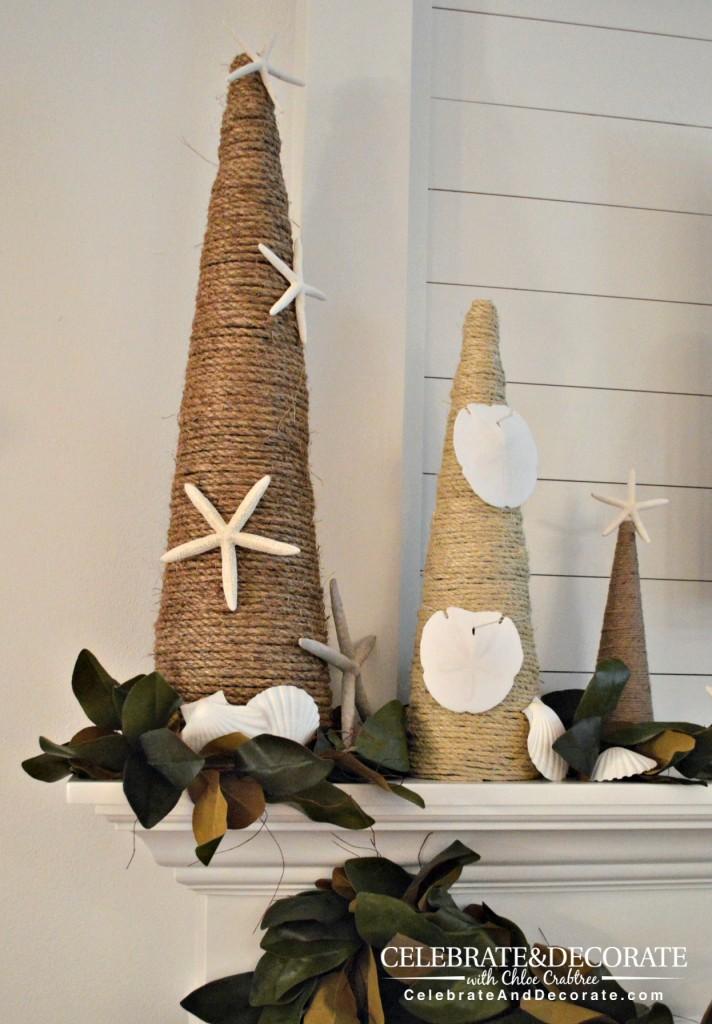 Coastal Christmas DIY trees