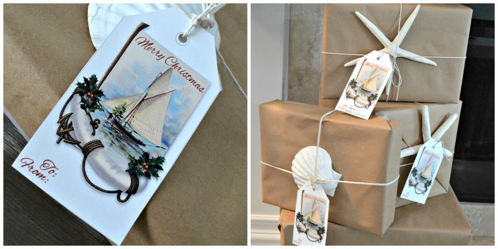 Coastal Christmas Gift Tag Free Printable