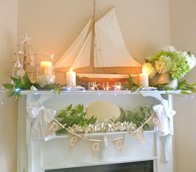 Nautical Christmas Mantel