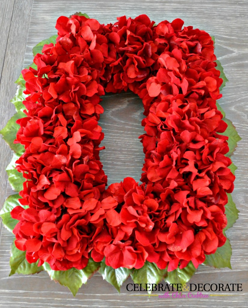 Red Flower Christmas Wreath