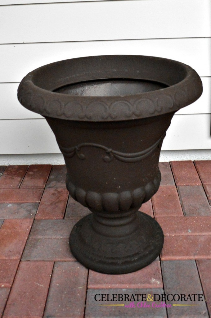 Urns for the front porch