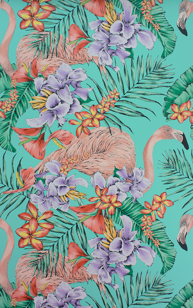 Flamingo Tropical Wallpaper