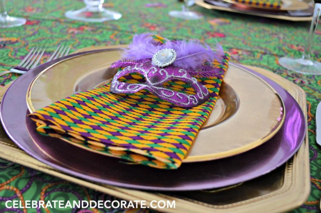 Mardi Gras Dinner Place Setting