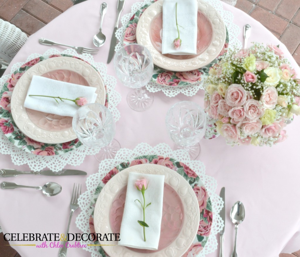 Pretty in Pink Floral tablescape