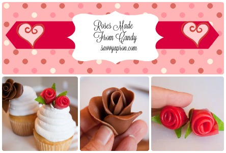 Roses made from candy