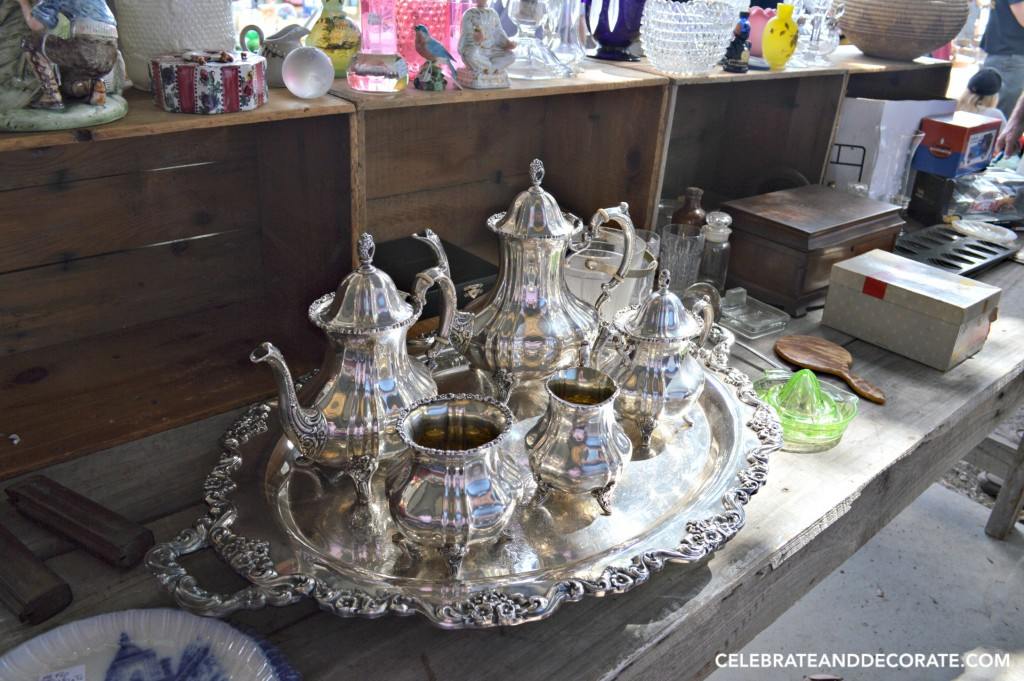 A full silver tea set