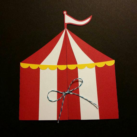 Circus Tent Invitations