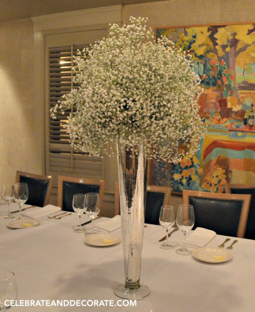 Elegant centerpieces for a winter dinner celebrate
