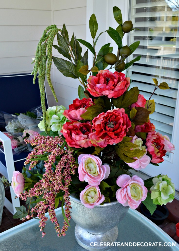 How to mix fresh and faux flowers in an arrangement