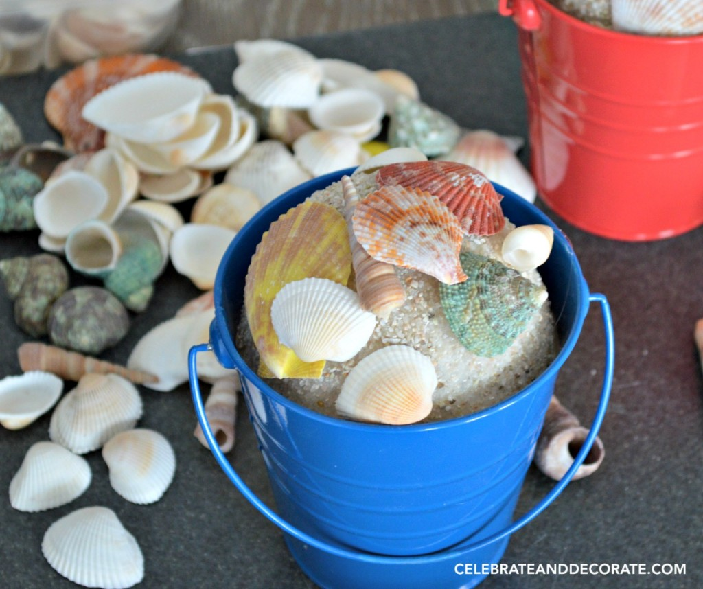 Beachy Sand Pail DIY Bookends