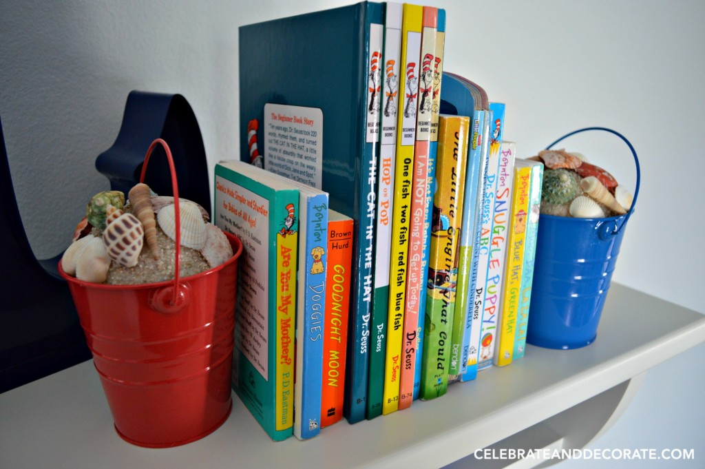 DIY Beach Pail Bookend Craft