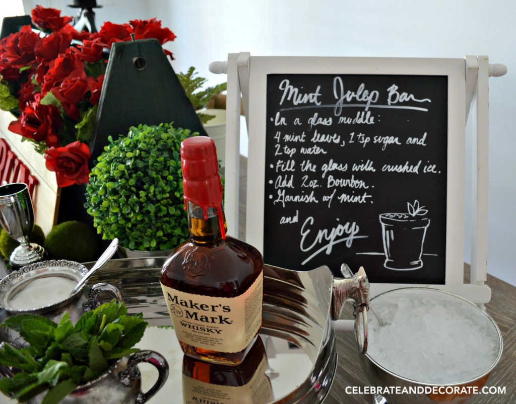 Mint Julep Bar at a Kentucky Derby Party