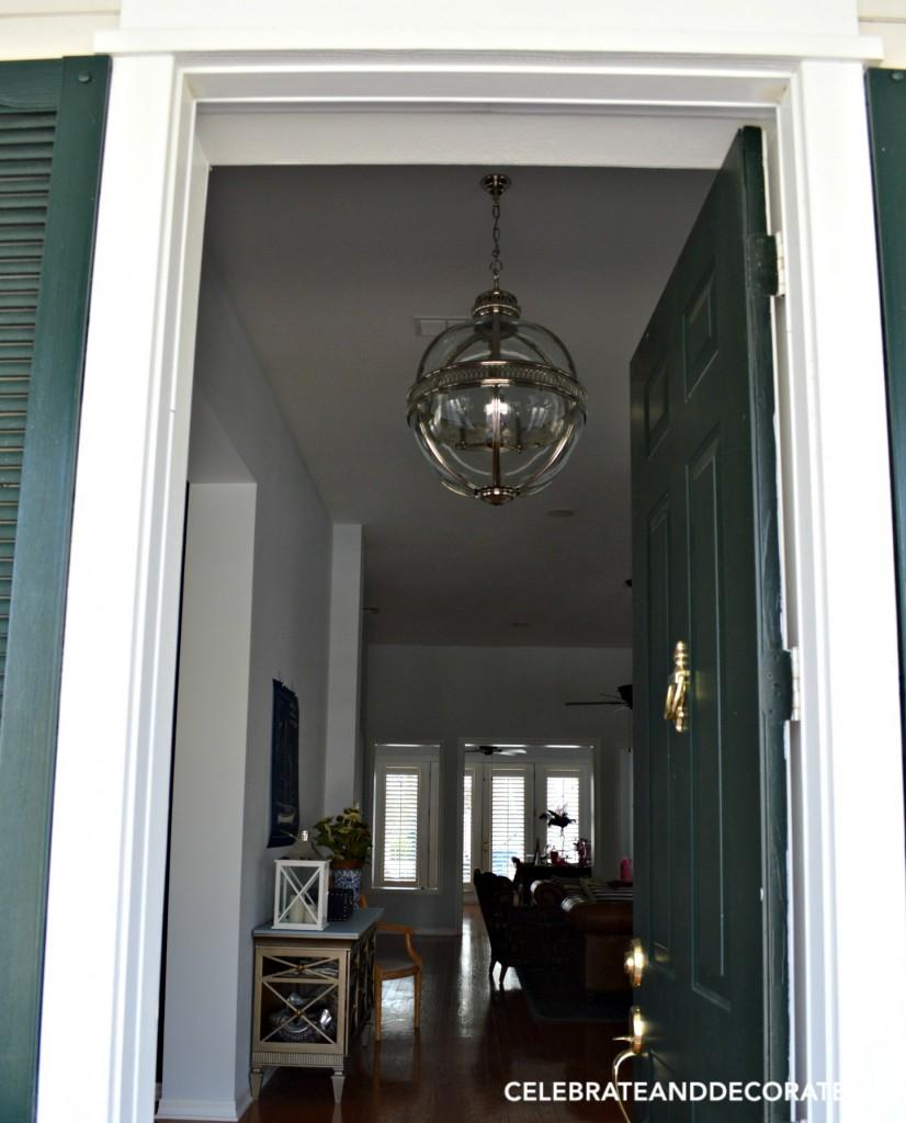 New light fixture for the foyer