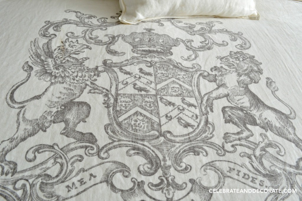 Regal bedding for my guests in the new guest room.