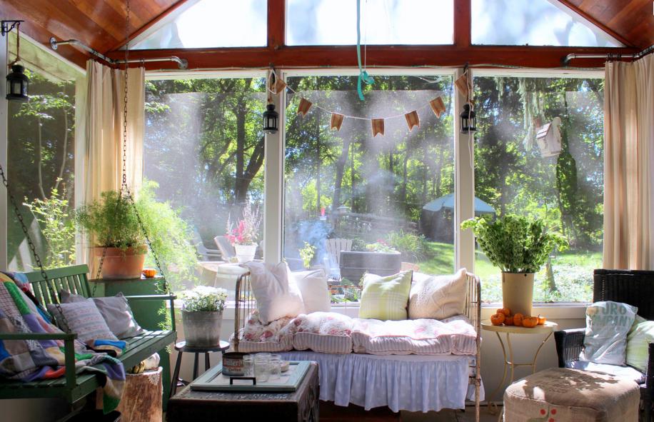 Shabby Chic Farmhouse Porch
