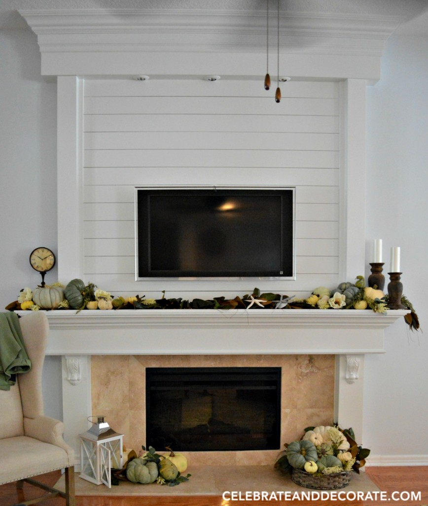 Shiplap Fireplace Facade