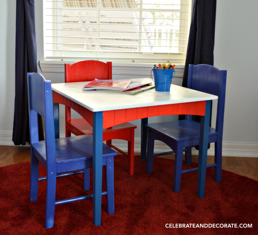 Updating a Child's Table and Chairs