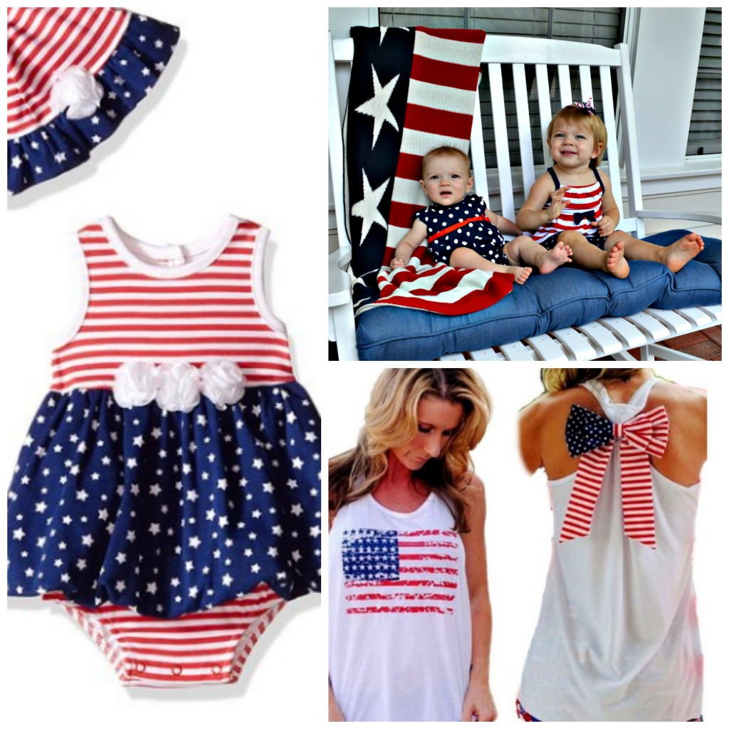 4th of July clothing collage