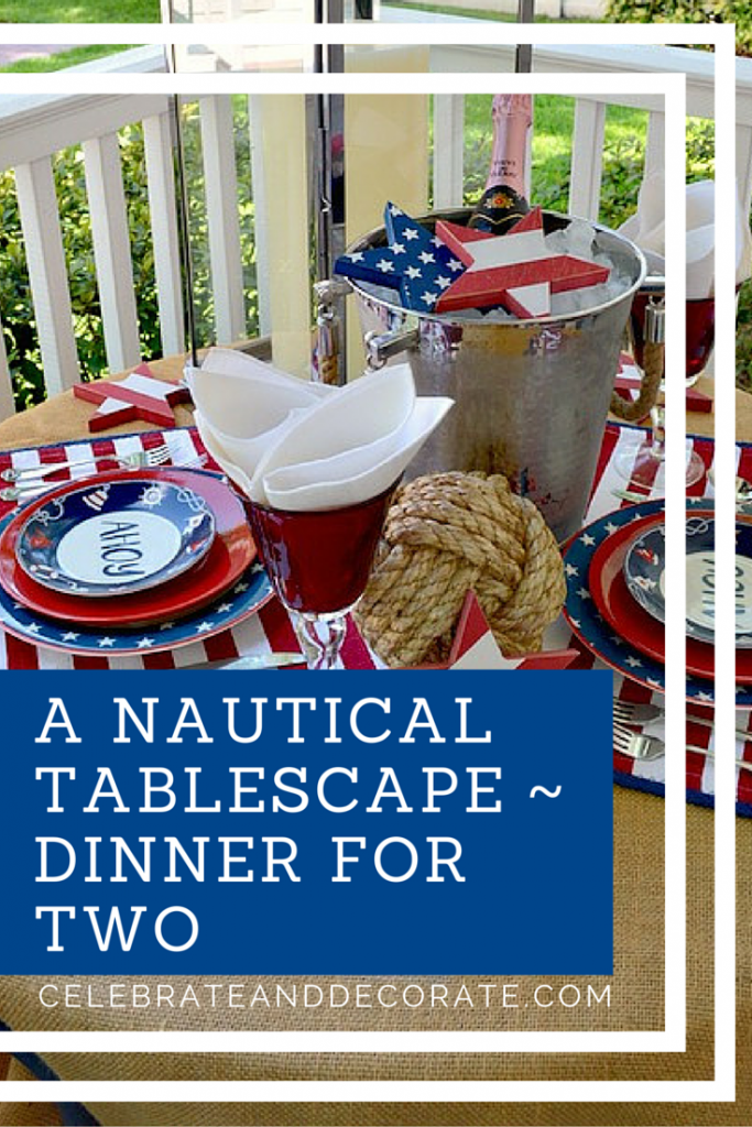 A Nautical Tablescape Dinner for Two (1)