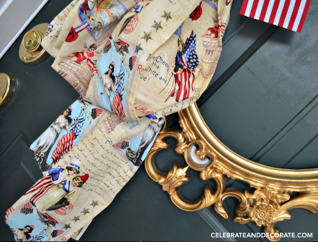 Fourth of July Door Decoration with a vintage look