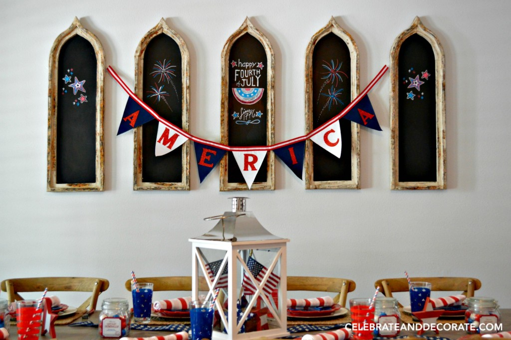 God Bless America Tablescape
