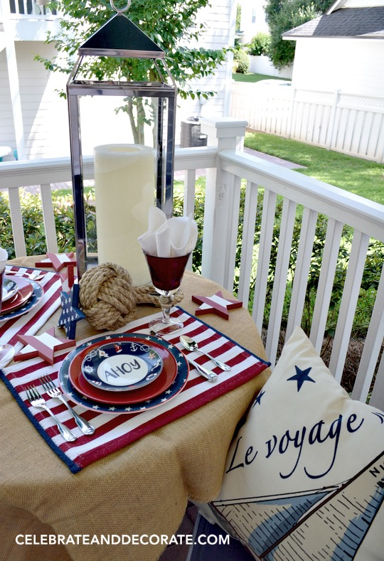 Le Voyage on the back porch