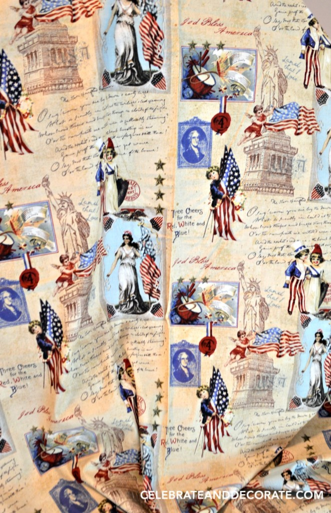 Vintage looking patriotic fabric