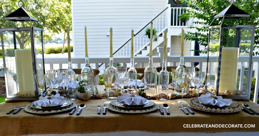 A Beach Inspired Tablescape For Summertime