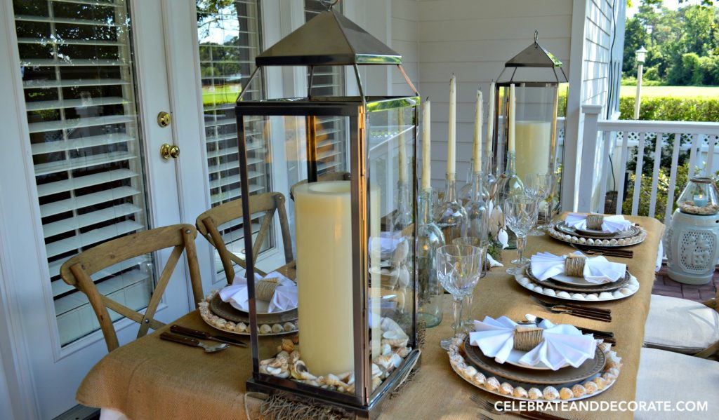 A Summer Beach Tablescape in neutral colors.