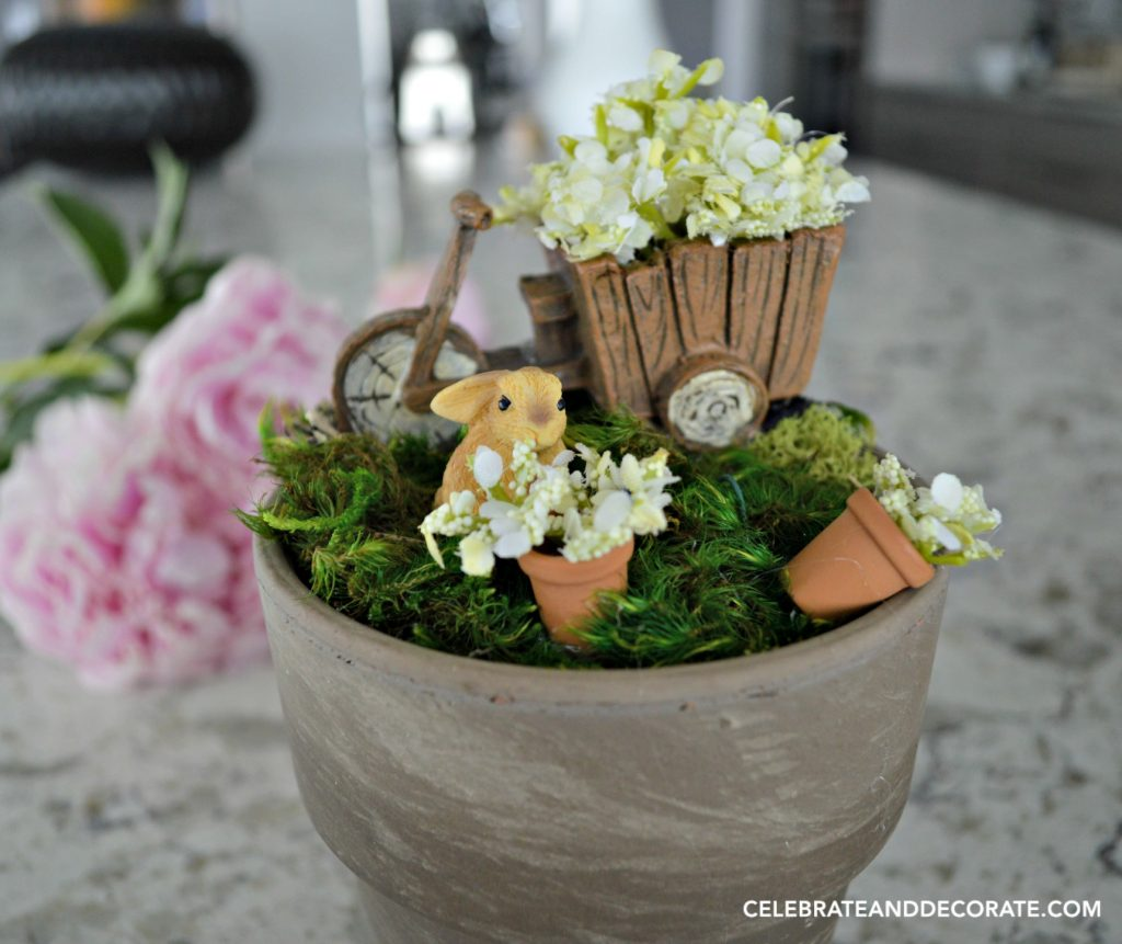 A Tiny fairy garden for a desktop or windowsill