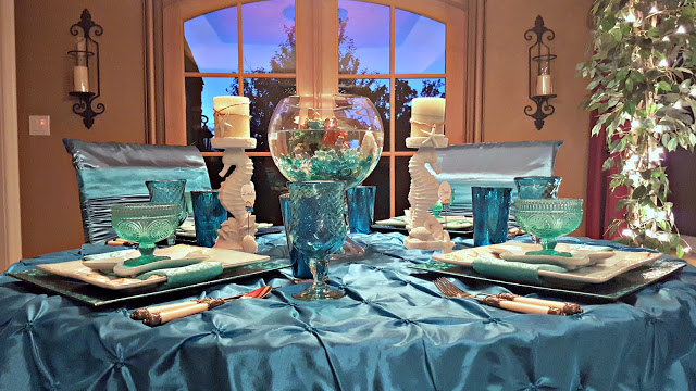 Aqua Dream tablescape