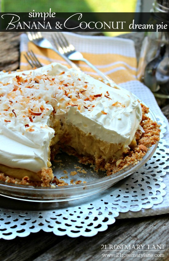 Banana Coconut Dream Pie