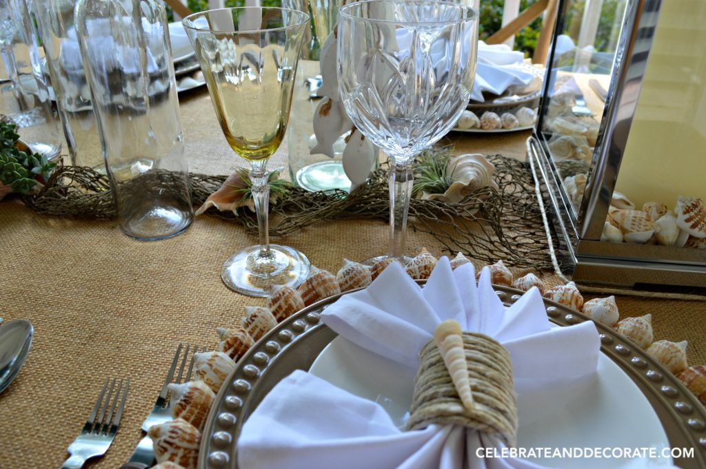 Beach Inspired Summertime Tablescape