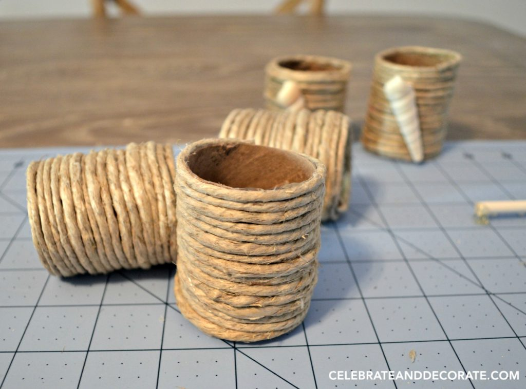 DIY Beachy Napkin rings