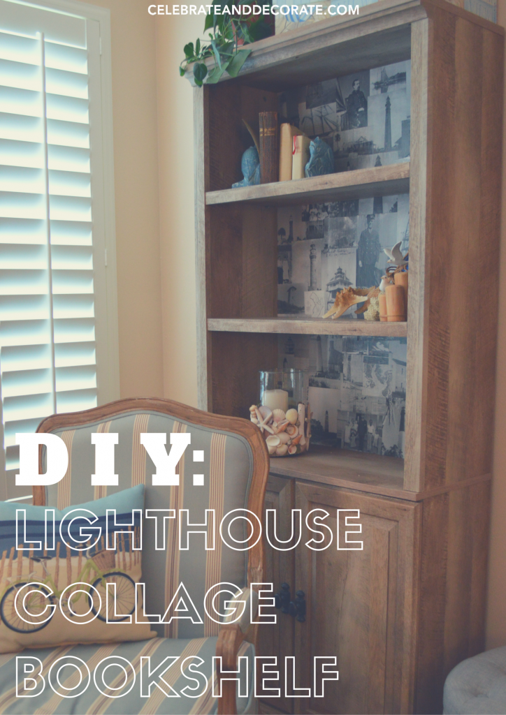 DIY-lighthouse-collage-bookshelf