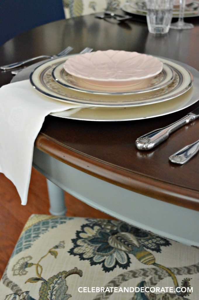 Detail of my new dining table set for an elegant dinner