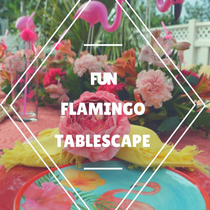 FUN FLAMINGO TABLESCAPE
