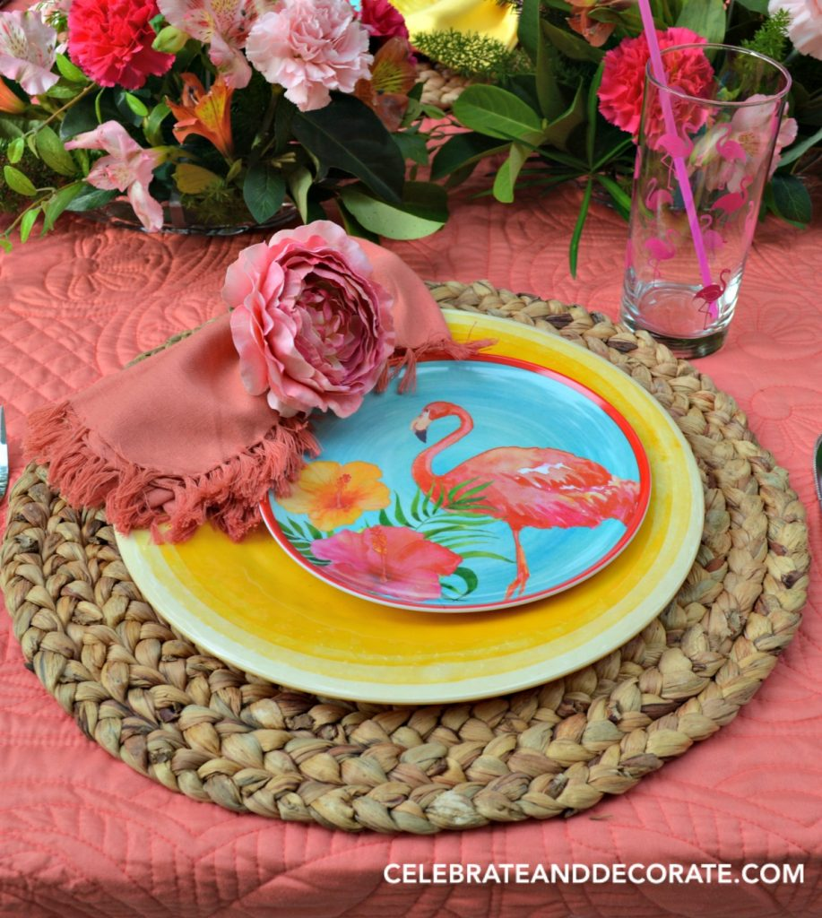Flamingo Dinner Party Place setting