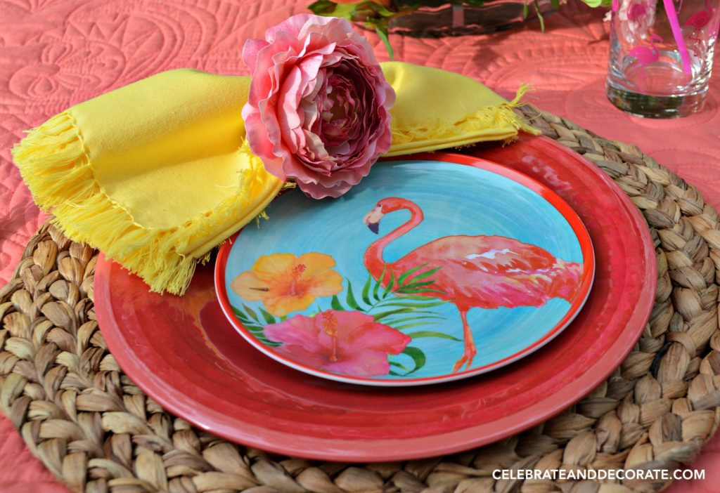 Flamingo tablesetting