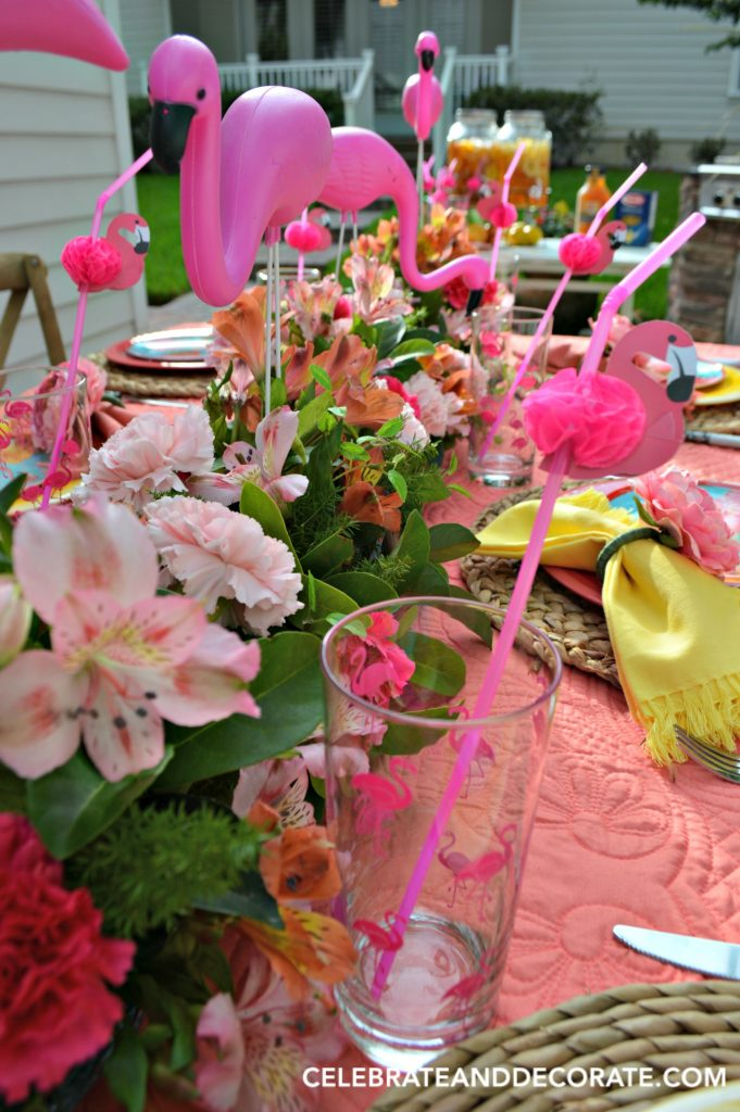 Fun Flamingo Summer dinner