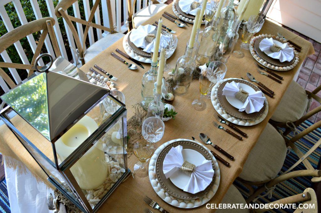 Summer Beach Tablescape