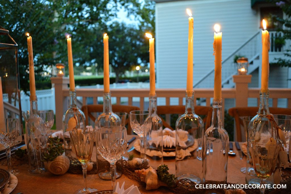 Sunsets on my tablescape
