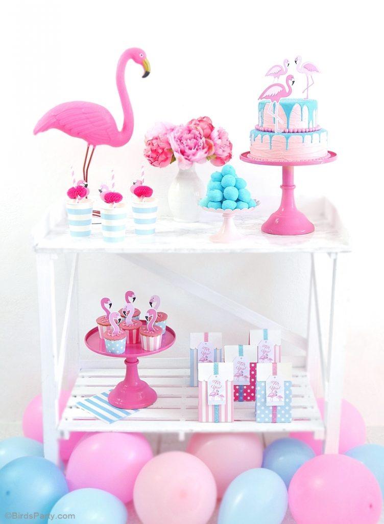 flamingo-birthday-party-pink-aqua-desserts-table-candy-bar