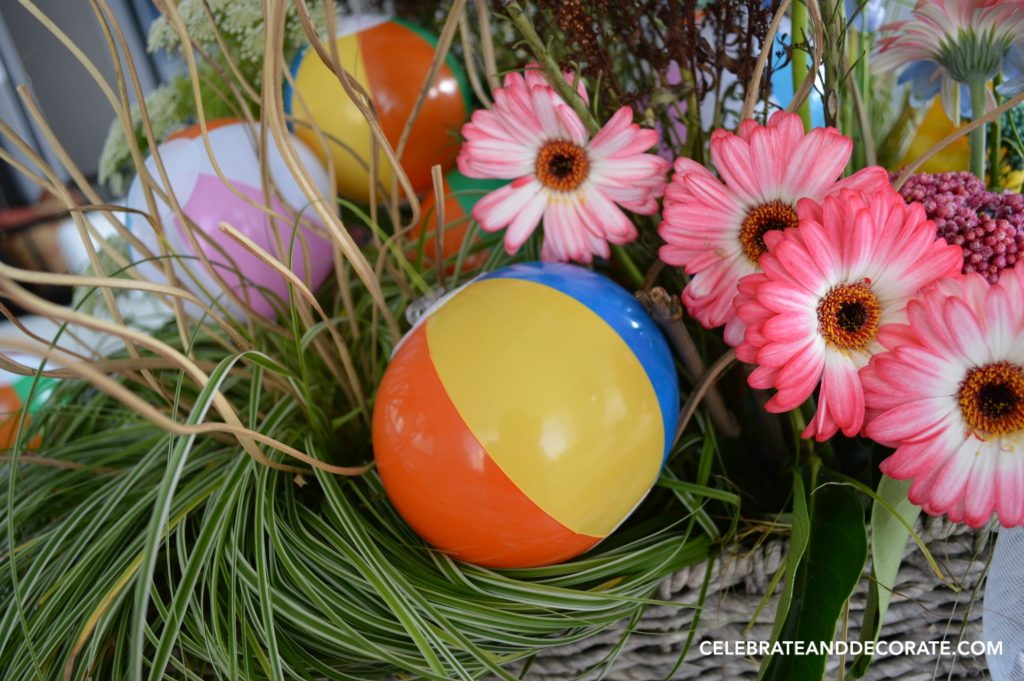 Beach Ball Tablescape Fun