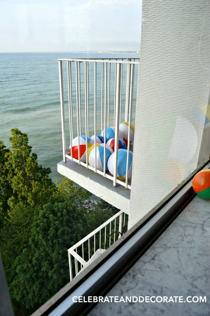 Beach Balls on the balcony over Lake Erie