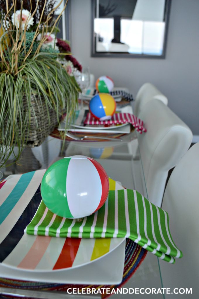 Beachball Tablescape